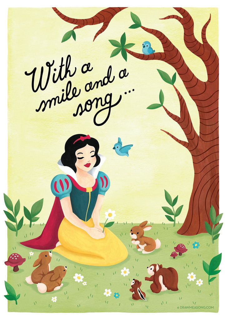 Snow White Art Print - Draw Me a Song