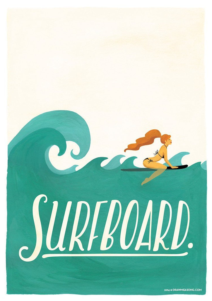 Surfboard Print - Draw Me a Song