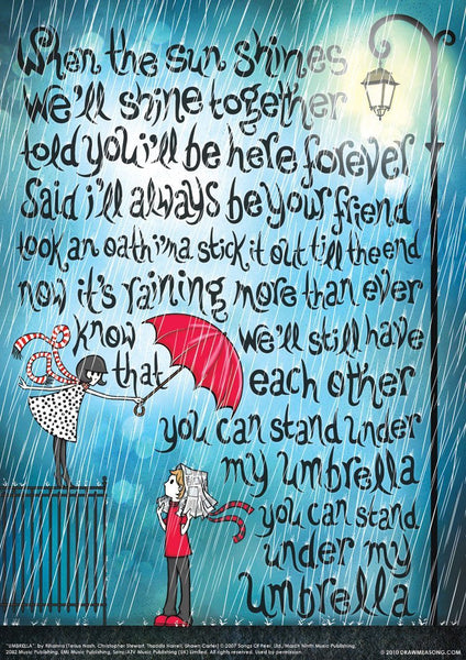Umbrella Print - Draw Me a Song