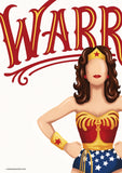 Wonder Woman Warrior Art Print - Draw Me a Song