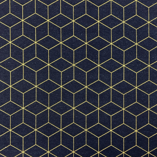 Canvas Stoff | feste Baumwolle | Hexagon | blau