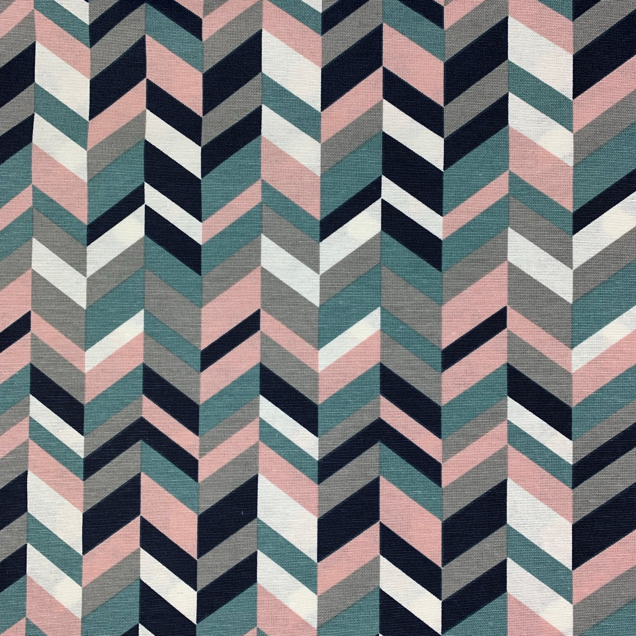 Canvas Stoff | feste Baumwolle | Chevron | mint