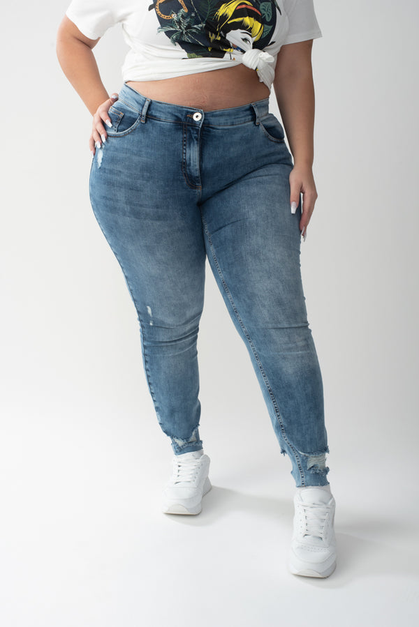 Skinny Denim עם קרעים