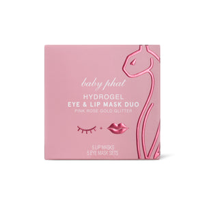 Pink Rose Gold Glitter Hydrogel Eye & Lip Mask Duo