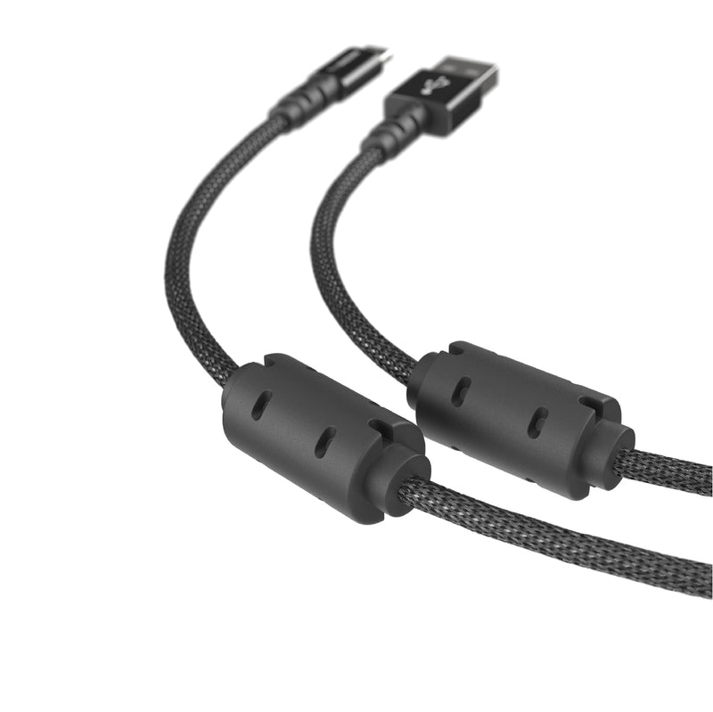 Power Max Pro Micro to USB-A Charging Cable with Dual Ferrite Ring (3M / 4M)