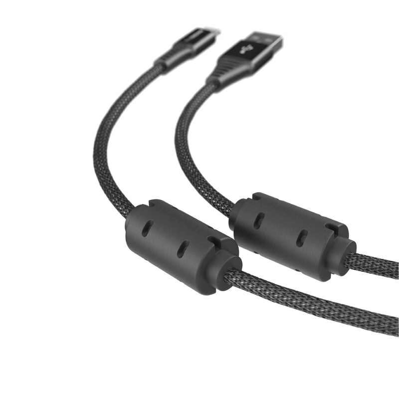 Power Max Pro Lightning to USB-A Charging Cable with Dual Ferrite Ring (1.5M)