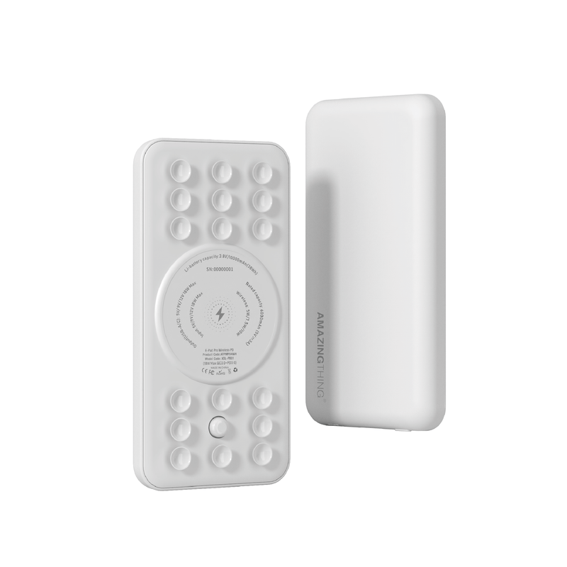 E-Pad Pro PD Wireless Power Bank with Suction Cups 10000mAh