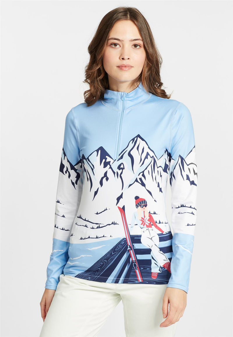 Krimson Klover, Aprés Anyone? 1/4 Zip, bright blue