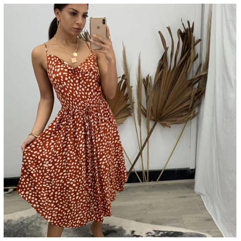 Roxy Dress - Rust