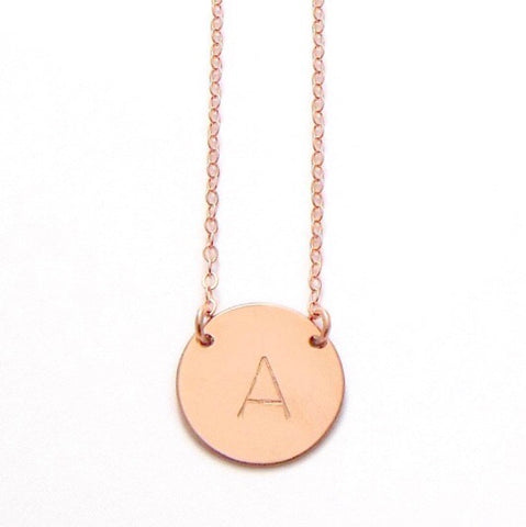 Chloe Initial Necklace | Rose Gold