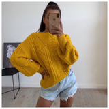 MELLOW YELLOW CABLE KNIT