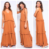 Jordie Frilled Maxi Dress