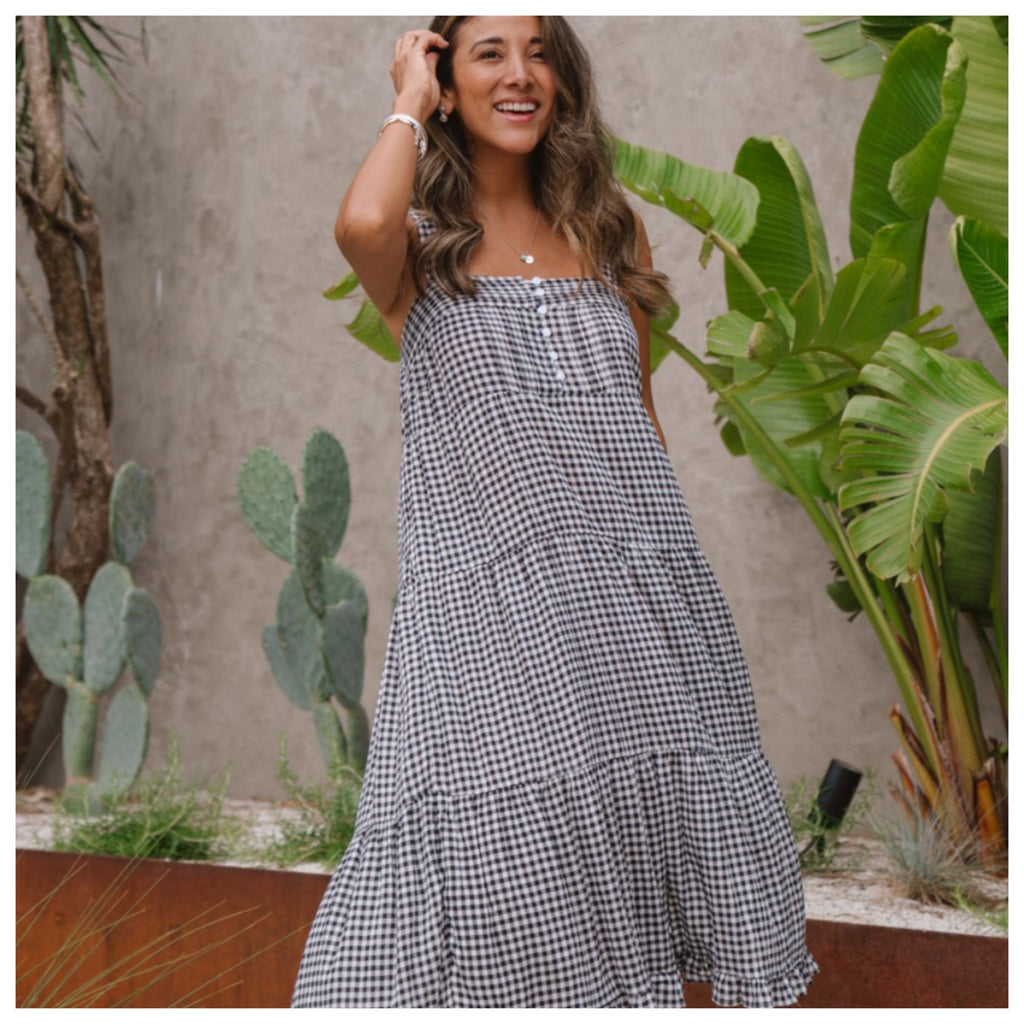 Ariana Gingham Midi Dress