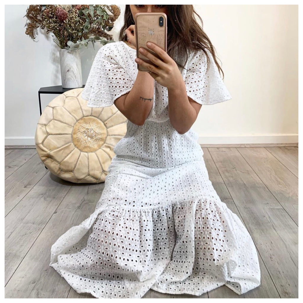 Lola Embroidered Lace Dress