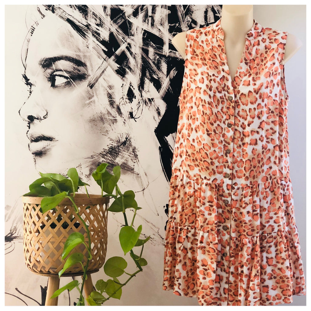 Summer Staples Dress - Leopard