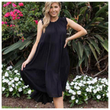 Zallora Midi Dress - Black