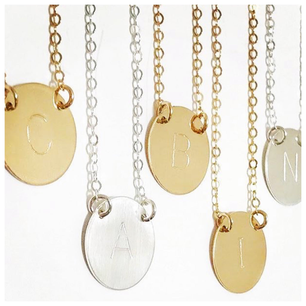 Chloe Initial Necklace | Gold  (A)
