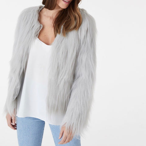 Marmont Faux Fur Jacket | Grey