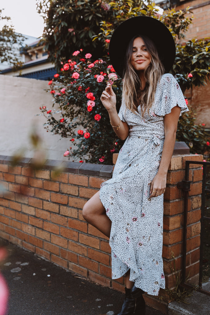 Desert Rose Wrap Dress