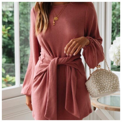 Harlow Knitted Wrap Dress