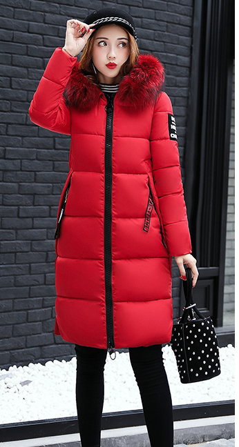 Cotton padded winter long big girls slim Korean fur - Venice Streets Fashion online style Boutique