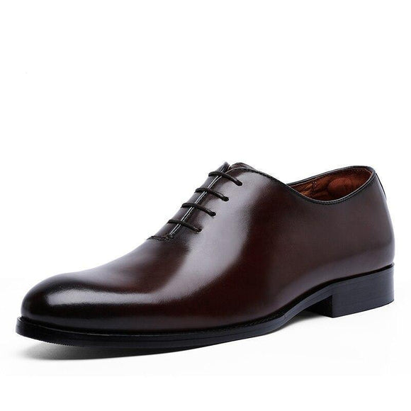 Oxford Handcrafted Men's Genuine Leather Lace up Dress Shoes - Venice Streets Fashion online style Boutique