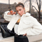 Fashion Lamb Wool Autumn Warm Winter Coat Women Jacket - Venice Streets Fashion online style Boutique
