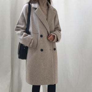 New Slim Style In Korean Version Long Sleeve Coat - Venice Streets Fashion online style Boutique