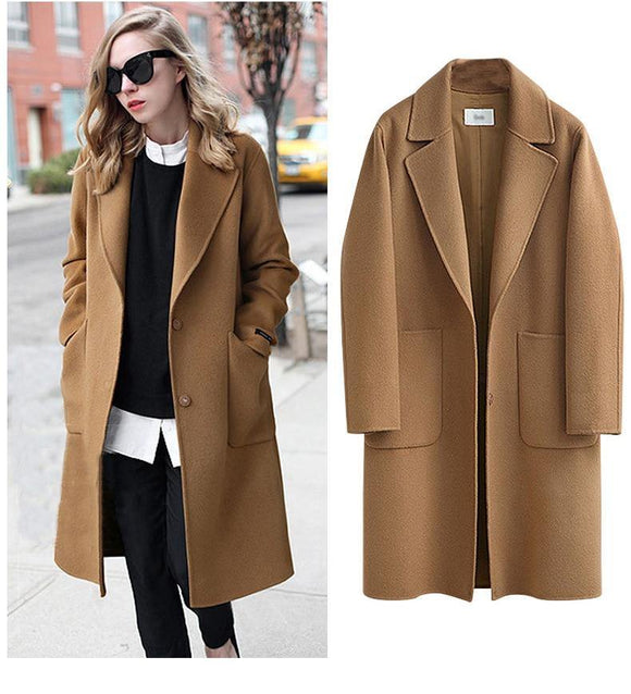 Winter Women's Plus-size long Style Loose And Heavy Coat - Venice Streets Fashion online style Boutique