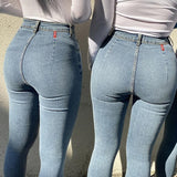 High Waist Stretch Skinny Denim Pants - Venice Streets Fashion online style Boutique