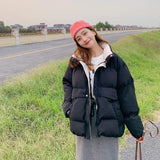 Oversize Women Thick Winter Coat Stand Collar Jacket - Venice Streets Fashion online style Boutique