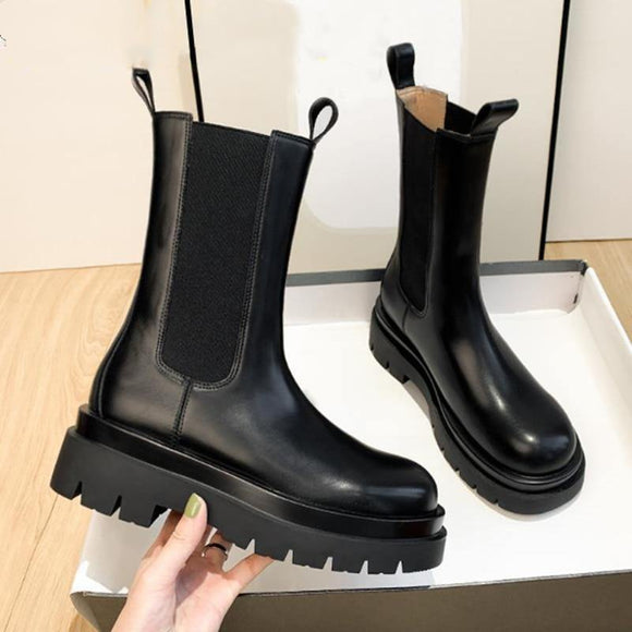 Chelsea Boots Women Ankle Boots Chunky Winter Shoes Platform - Venice Streets Fashion online style Boutique