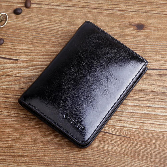 High Quality Designer Oil wax Leather Short Coin wallet - Venice Streets Fashion online style Boutique
