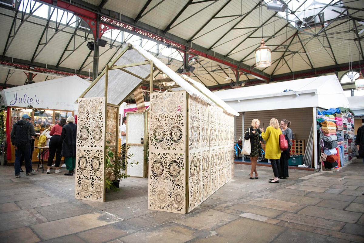 Green House sustainable installation for Festival of Thrift designed by Cabinet of Curiosity Studio