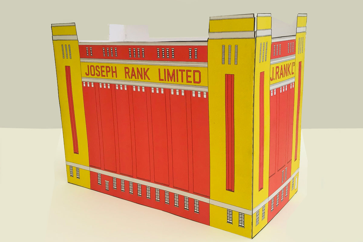 Paper model of the Baltic Flour Mills designed by Cabinet of Curiosity Studio for the Grand Constructions project, Darlington, UK 2021