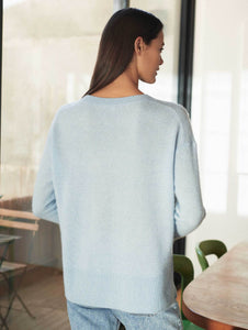 Found: The perfect sweater to transition from the colder months into spring. Effortless yet elegant, the relaxed dropped-sleeve silhouette is laidback, while ribbed detailing adds a touch of luxe.