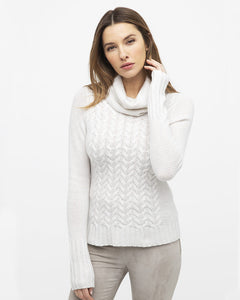 Luxe Cable Cowl Neck Sweater