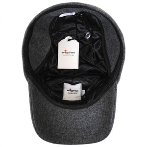 Wool Baseball Cap with Earflaps