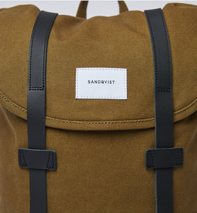 sandqvist stig backpack dark olive laptop case