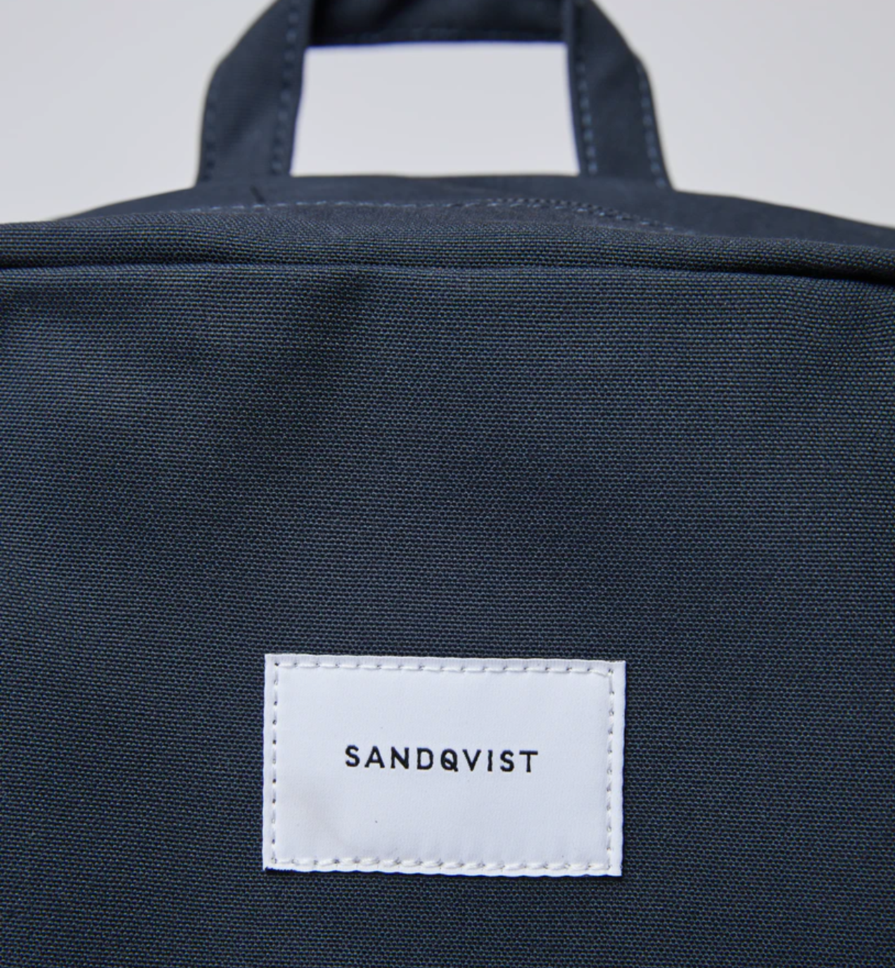 sandqvist kim backpack navy blue zippered bag laptop case