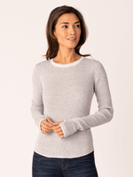 Load image into Gallery viewer, Our Shirttail Waffle Crew is the perfect layering piece. It's slimming silhouette in a waffle knit is flattering on all bodies. The thumb-hole detail at the cuffs and the shirttail hem makes this simple piece special.