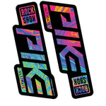 Oil Slick RockShox Pike Decal