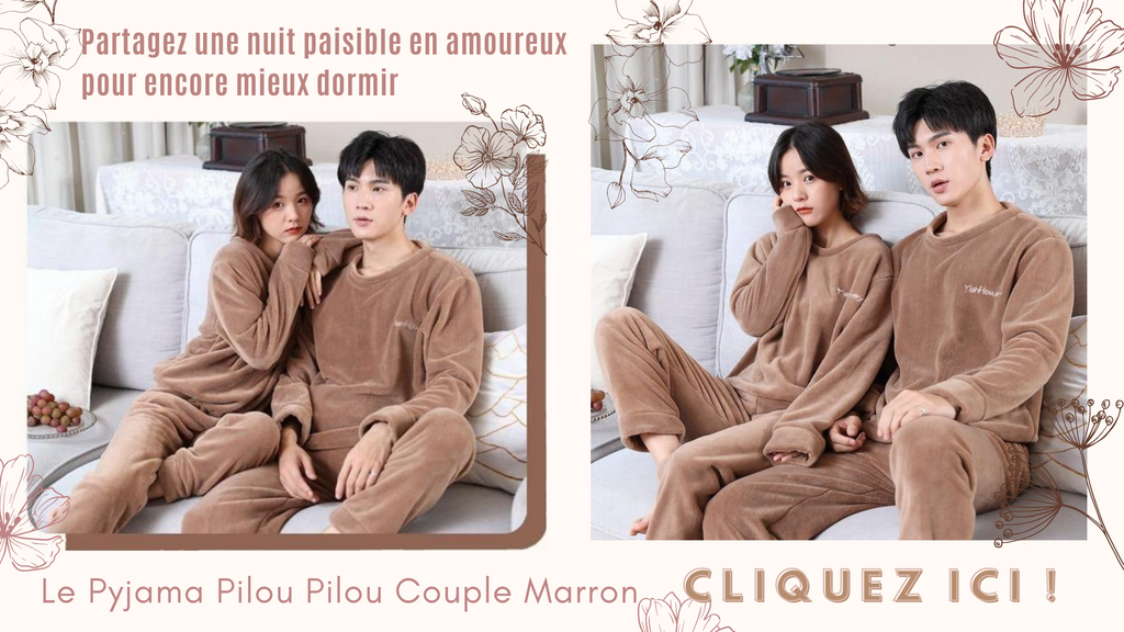 Pyjama Pilou Pilou Couple Marron