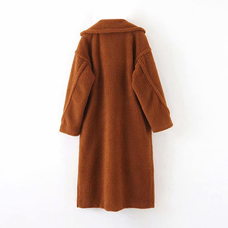 Manteau Pelucheux Marron