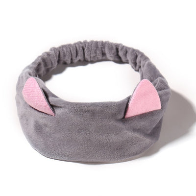 Bandeau Maquillage Chat Gris