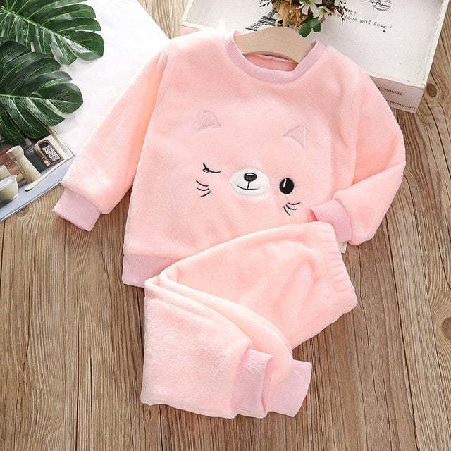 Pyjama Pilou Chat Rose