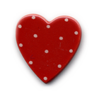 Ceramic Heart Brooch - small