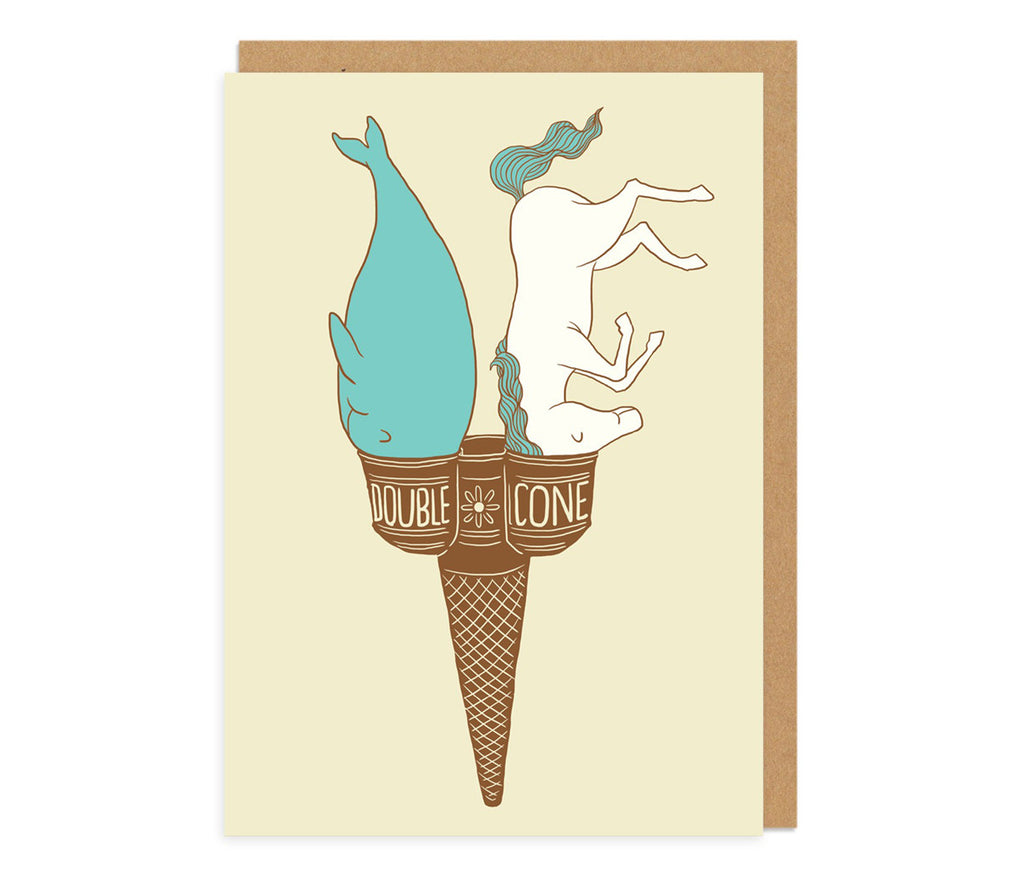 Double Cone Greeting Card
