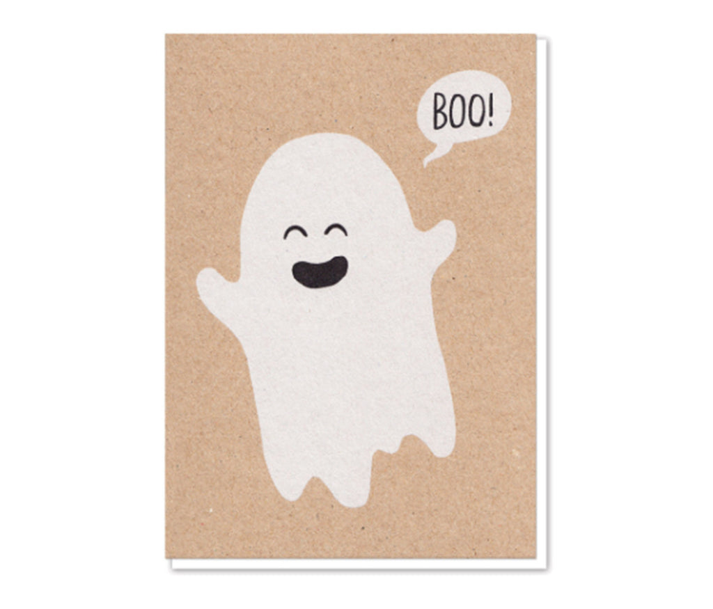 Boo Ghost Greeting Card