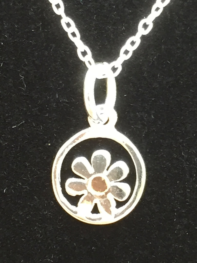 Silver/Rose Gold Daisy Necklace
